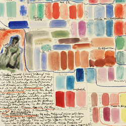 Notes from Oscar Bluemner's Theory Diary. The Oscar Bluemner papers were digitized in 2008.
