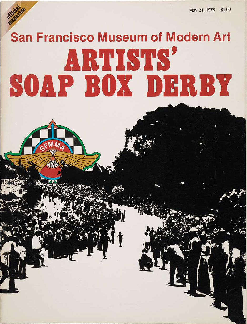 Printed magazine for the second San Francisco Artists' Soap Box Derby