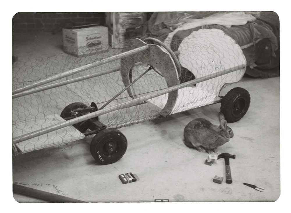 Image of Eleanor Dickinson's Artists' Soap Box Derby Car in progress