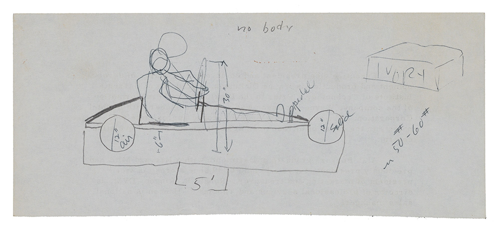 Sketch of Eleanor Dickinson's Soap Box Derby Car Tongue-tied