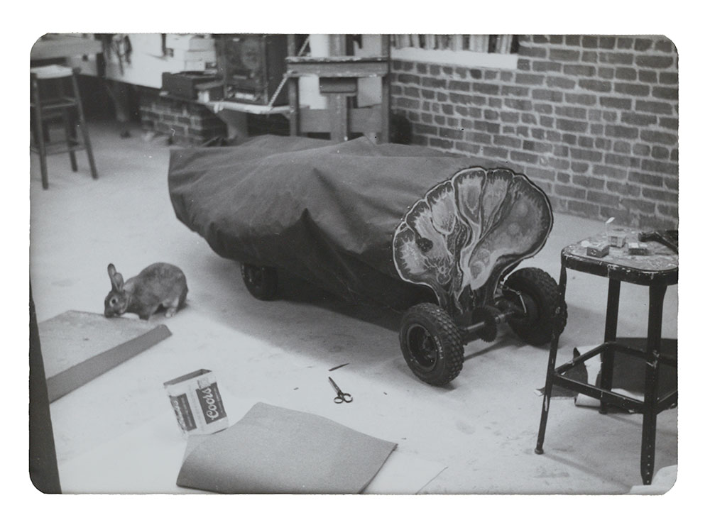 Image of Eleanor Dickinson Artists' Soap Box Derby Car, Tongue-tied