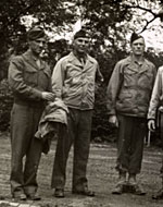 Walker Hancock, Lamont Moore, George Stout and two unidentified soldiers in Marburg, Germany, 1945 June