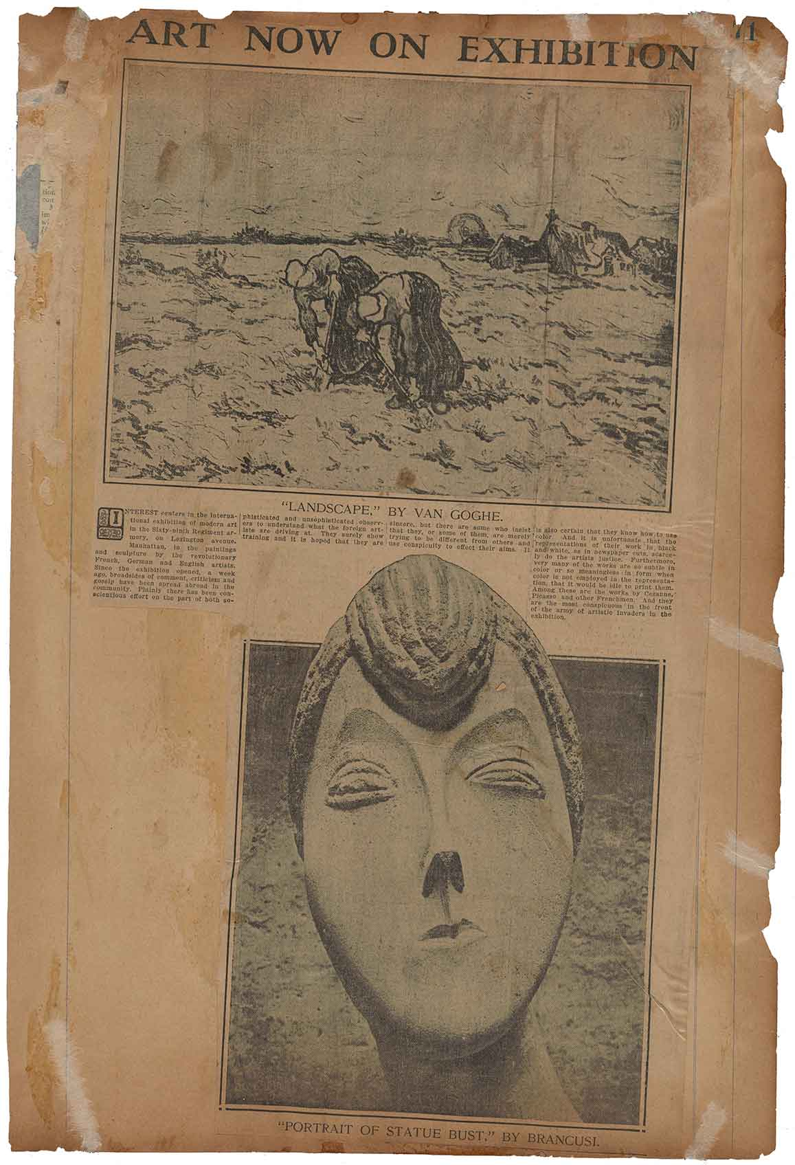 Scrapbook of Armory Show press clippings, page 71