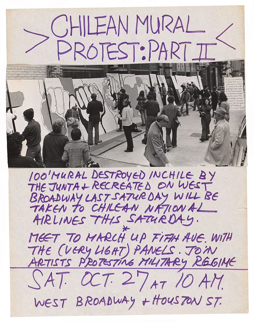 Poster for the second part of a protest against the 1973 Chilean coup