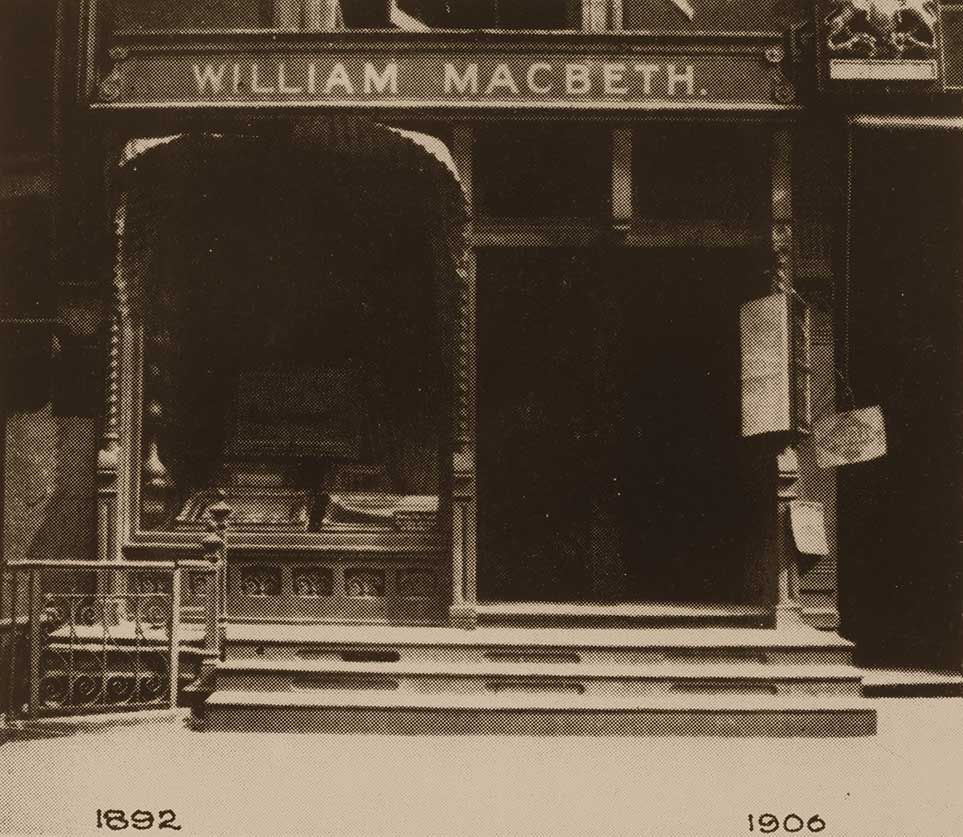 Photograph of the first location of the Macbeth Gallery at 237 Fifth Avenue, New York, N.Y.