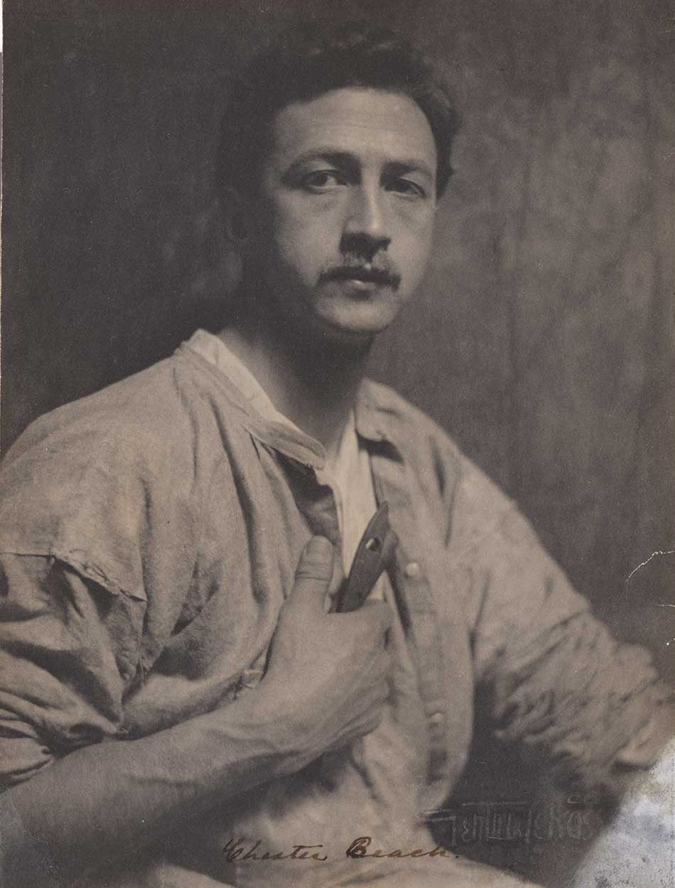 Portrait of sculptor and medalist Chester Beach