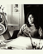 Carmen Lomas Garza participating at the Califas conference on Chicano art and culture held at the University of California at Santa Cruz in 1982