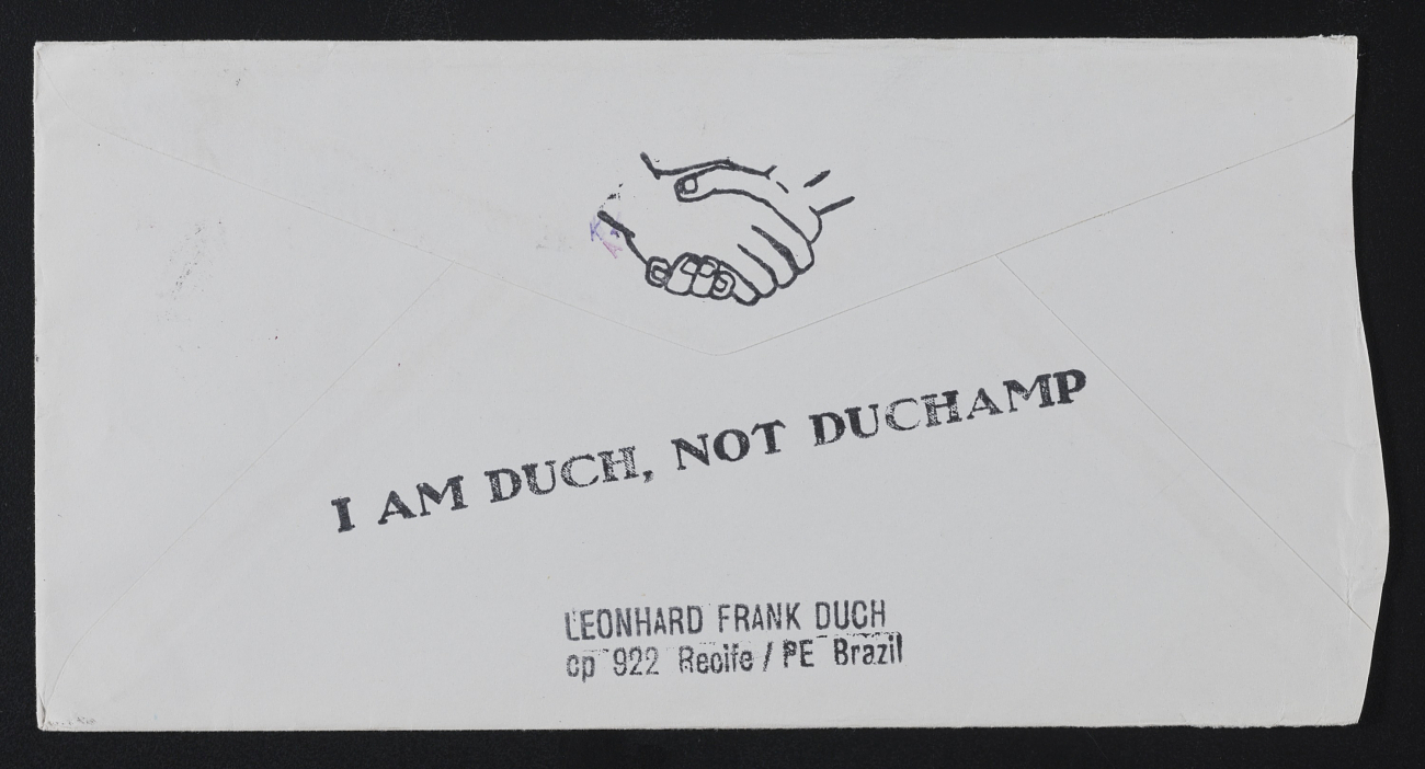Leonhard Frank Duch mail art to John Held Jr.