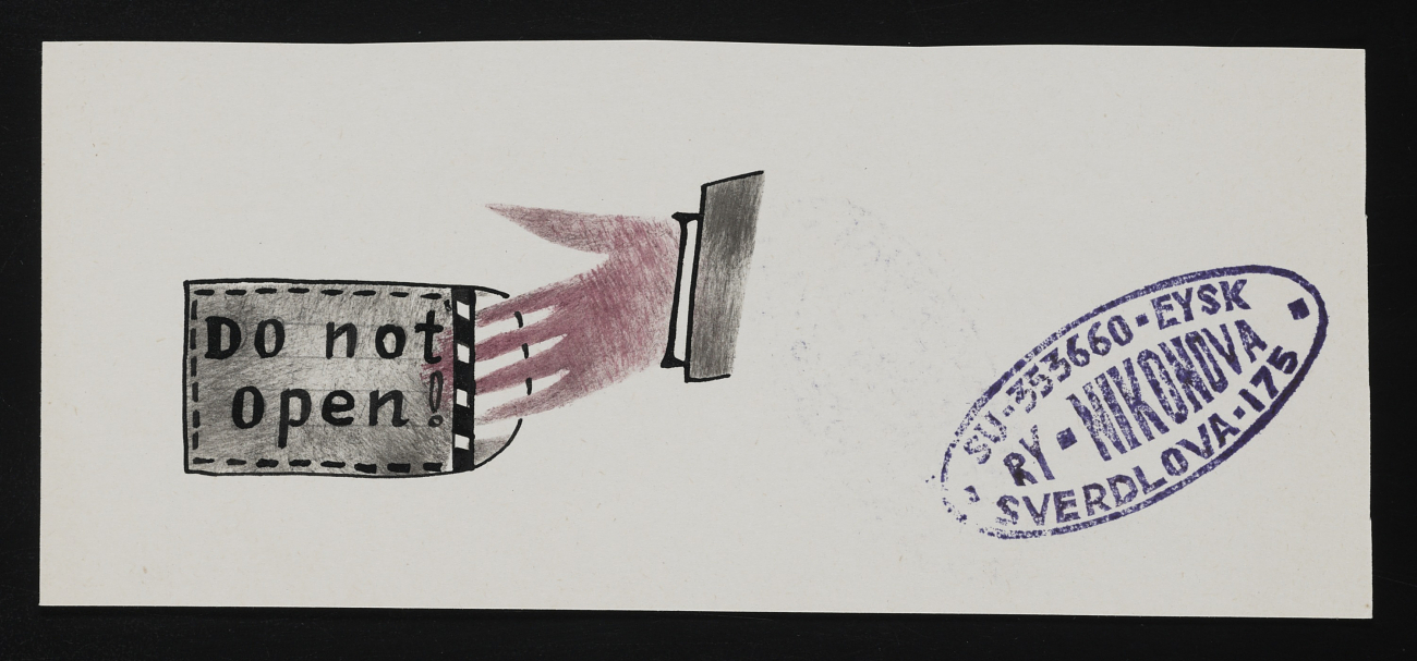 Ry Nikonova mail art to John Held Jr.