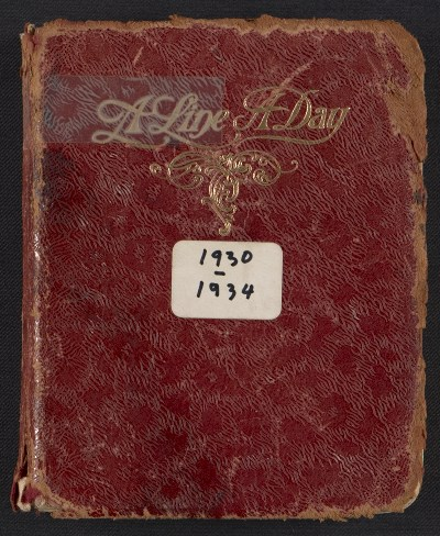 A line a day diary, between 1930 and 1934, from the Beatrice Wood papers, Archives of American Art, Smithsonian Institution.