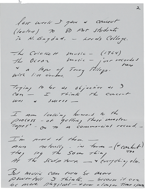 Figure 2  Letter from Walter De Maria to Robert Scull, 1968. Robert Scull papers, ca 1968–1983, Archives of American Art, Smithsonian Institution.