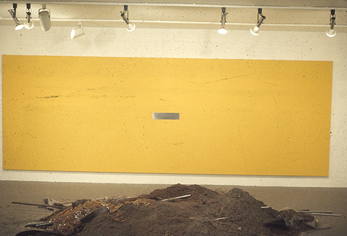 Figure 4  The Color Men Choose When They Attack the Earth (installation shot), 1968, oil on canvas. Dwan Gallery Records, 1959–ca. 1982, bulk 1959–1971, Archives of American Art, Smithsonian Institution.