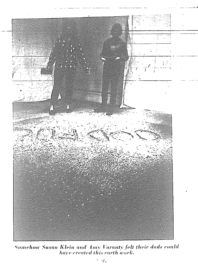 "Figure 5  Good Fuck in ""Earthworks"" exhibition at Cornell University, February 1969, installation. © Estate of Walter De Maria, Courtesy of the Ithaca Journal."