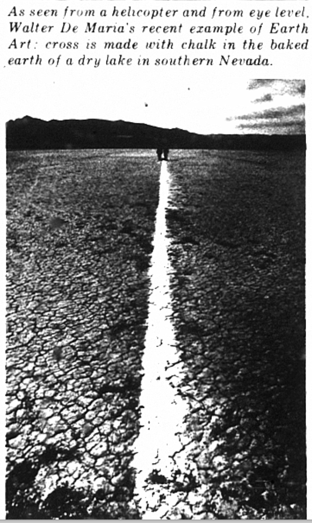 Figure 8 Mile Long Drawing, 1968, Mohave Desert, installation. © Estate of Walter De Maria.