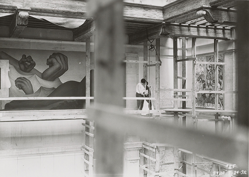 Diego Rivera and Frida Kahlo at the Detroit Institute of Arts