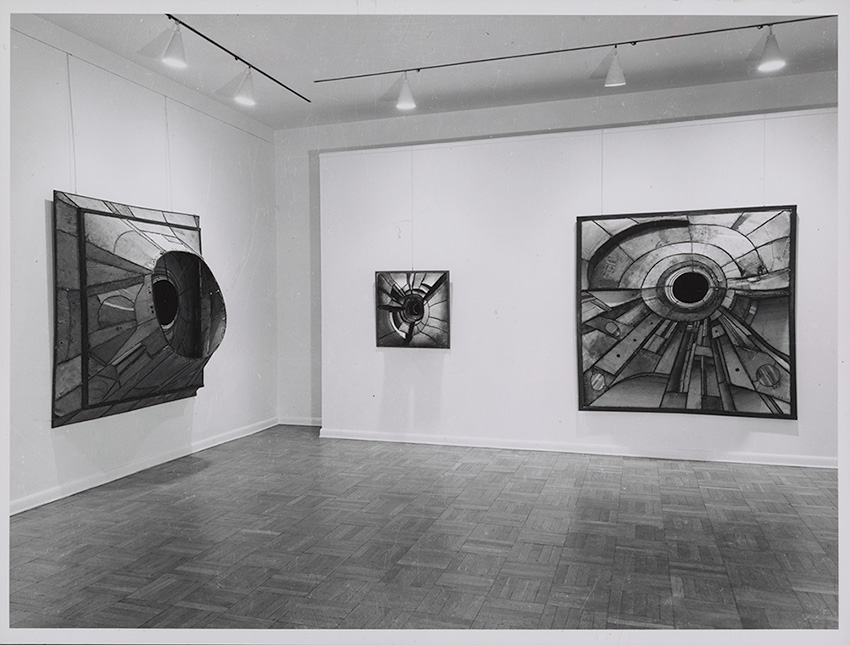 Gallery view of a Lee Bonticou exhibition
