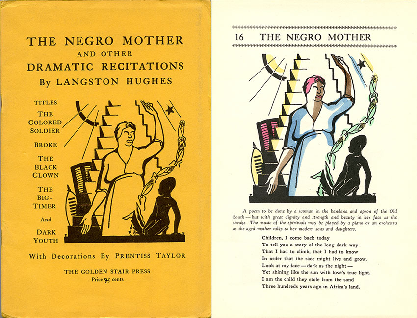 Cover and interior page from Langston Hughes poetry book