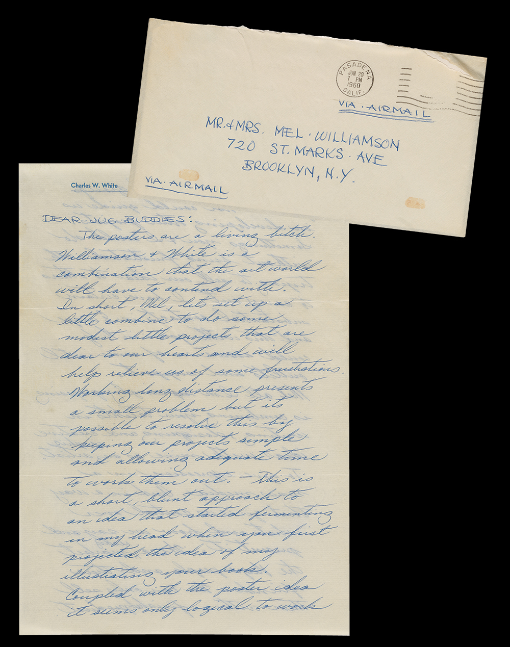 Charles White letter to Melvin Wililams dated June 20m 1960.