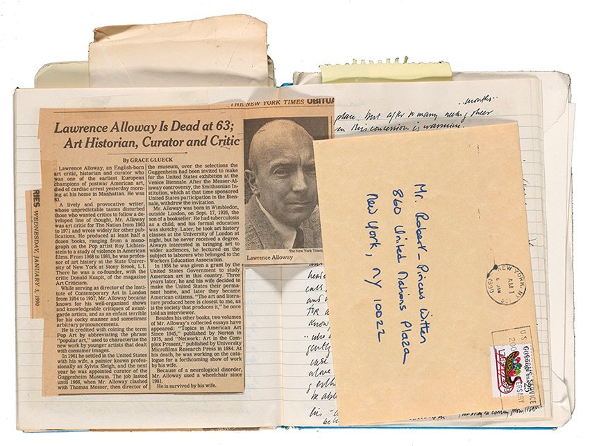 Picus-Witten journal with clipping and envelope
