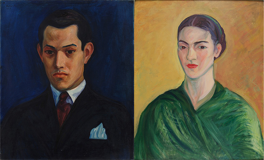 Images of Portraits of Rufino Tamayo and Frida Kahlo by Walt Kuhn