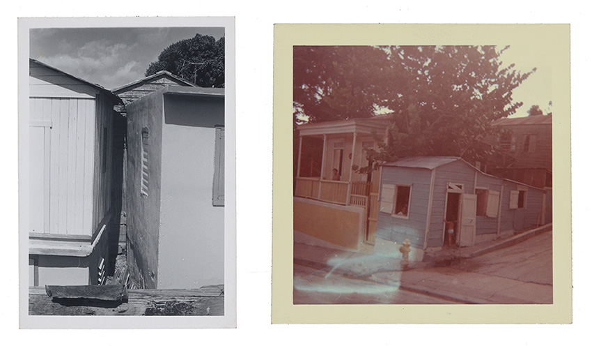 Two images of houses in Puerto Rico photographed by Emilio Sanchez