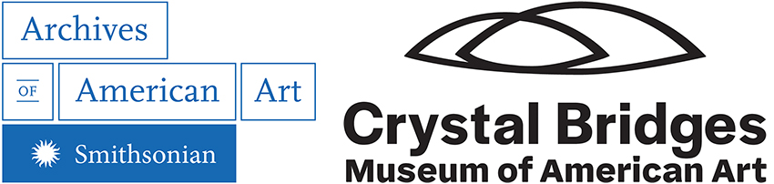 Graphic logos of the Archives of American Art and the Crystal Bridges Museum of American Art