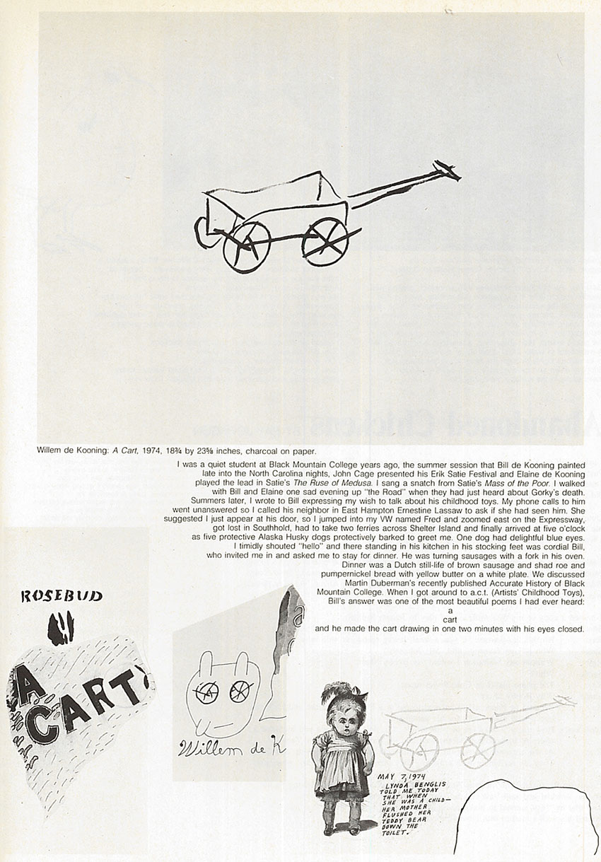 Page from Ray Johnson article in Art in America