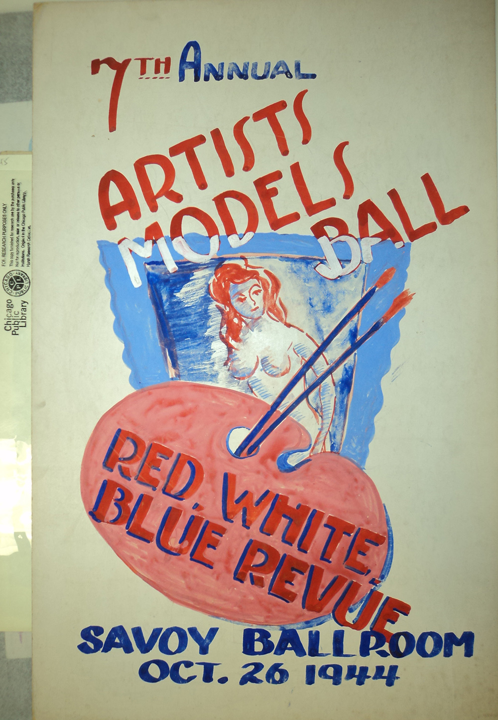 Attributed to William McBride Jr., design for 7th annual Artists and Models Ball, South Side Community Art Center, 1944, in William McBride Jr. Papers, Vivian Harsh Research Collection, Chicago Public Library