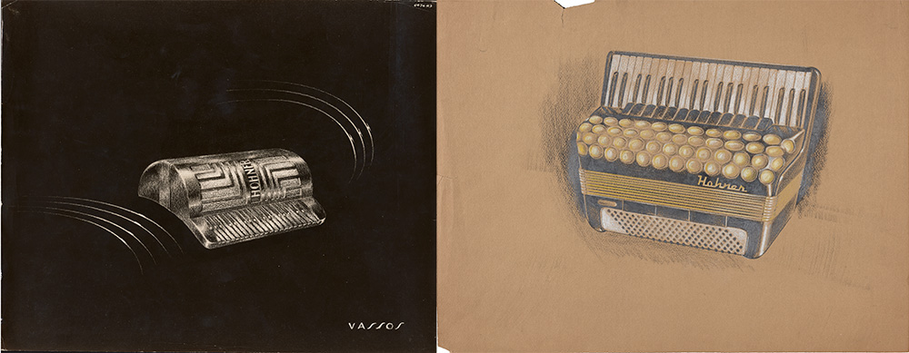 Accordion designs by John Vassos