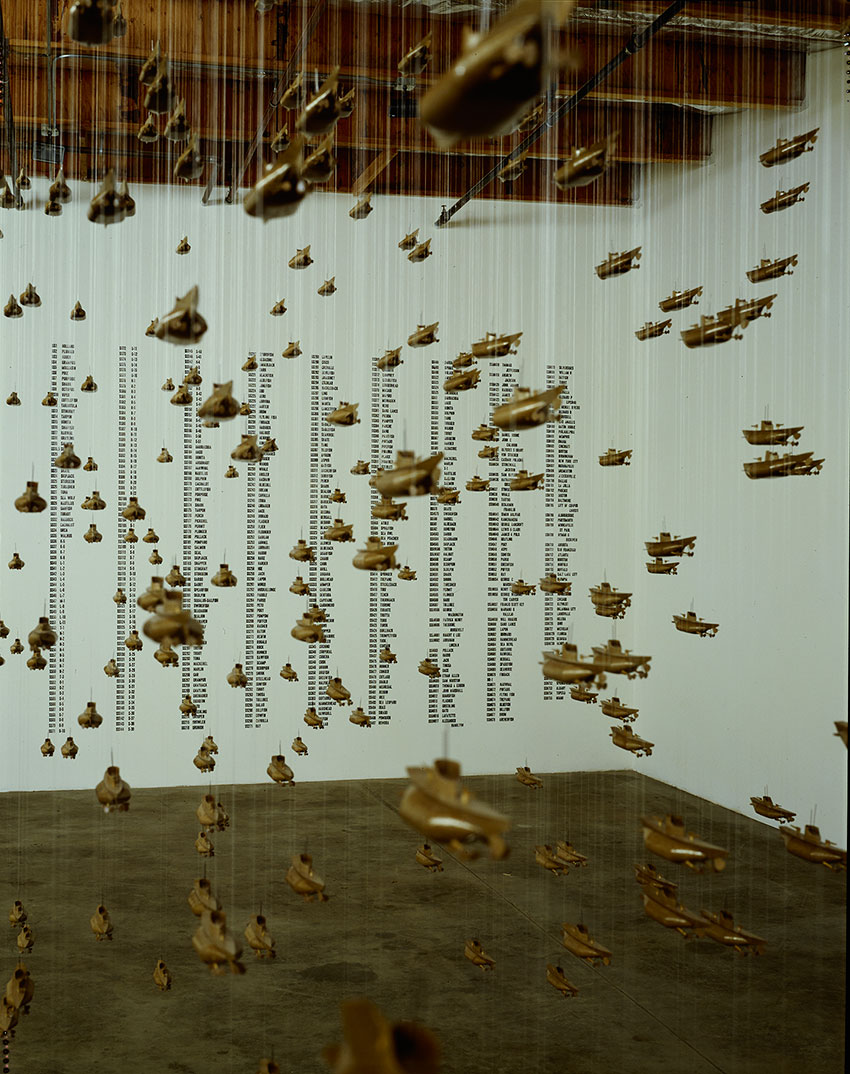 Chris Burden installation at Christine Burgin Galery.