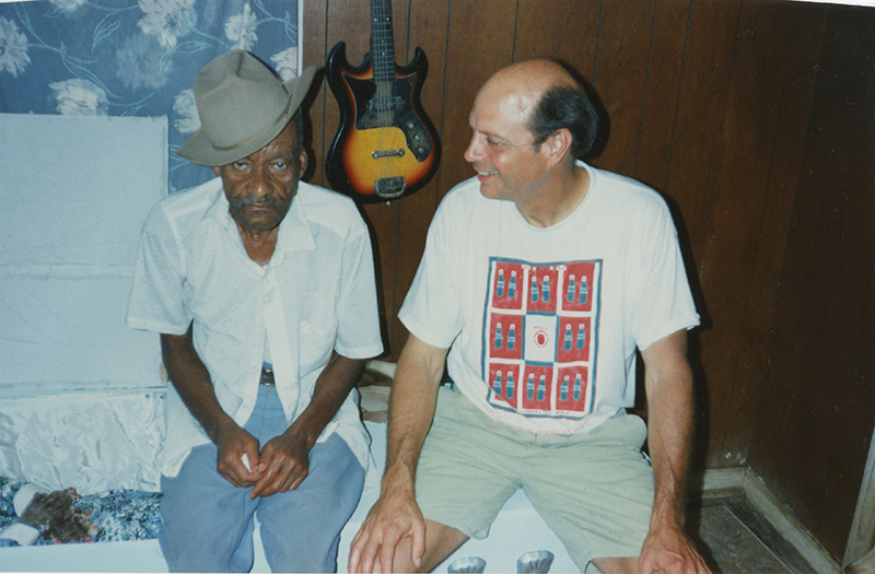 Photograph of Jimmy Hedges with James Thomas, ca. 1995. Jimmy Hedges Papers and Rising Fawn Folk Art Gallery Records
