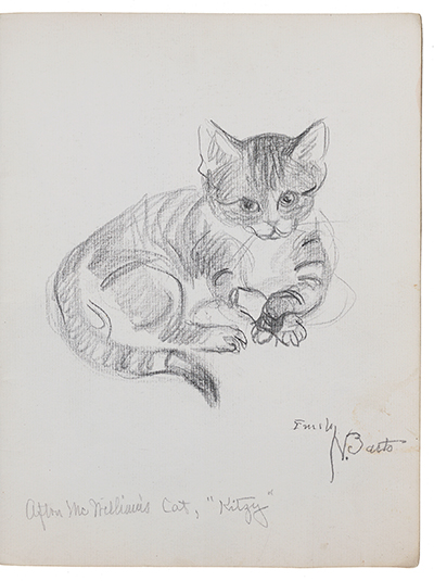 Sketch of a cat by Emily Barto
