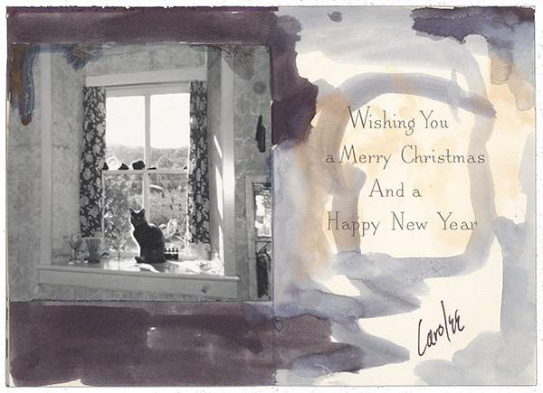Holiday card sent to Joseph Cornell