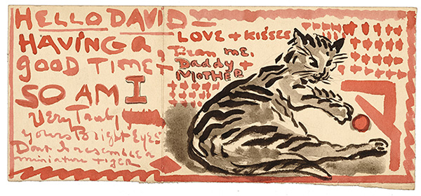 Illustrated letter to David Soyer
