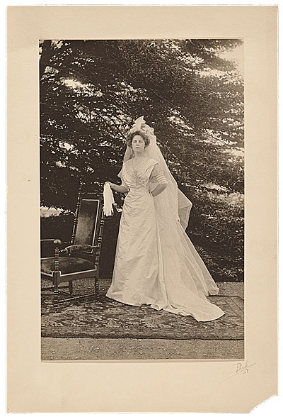 Photograph of Maude Ramsdell Beal on her wedding day