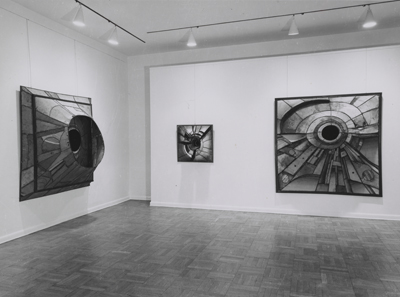 Lee Bontecou show at the Castelli Gallery