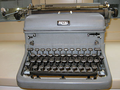 Garnett McCoy's Royal typewriter