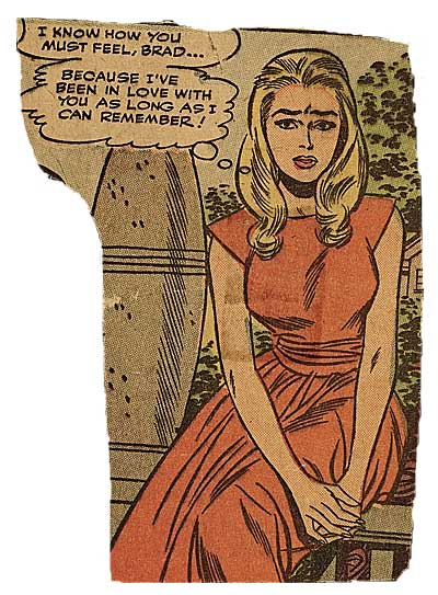 Lichtenstein writes to inform Johnson of his completion of two paintings she had seen on a visit to his studio, and includes the original source material (two clippings from newspaper comics).