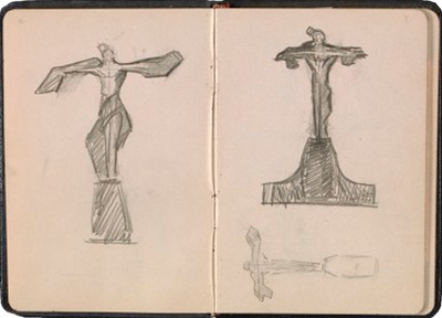 Sketches of Titanic Memorial