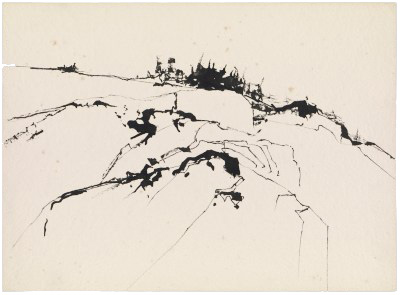 Sketch of Maine landscape