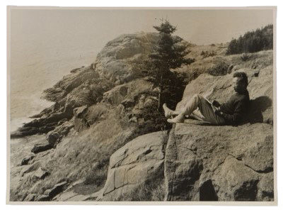 Photograph of Reuben Tam on Monhegan Island