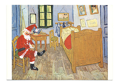 Santa in Van Gogh's bedroom