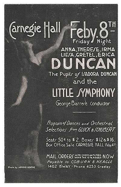 Postcard for Duncan performance
