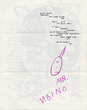 Mail art sent to John Held by Ray Johnson