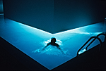 Image from James Turrell's installation Heavy Water, 1991.