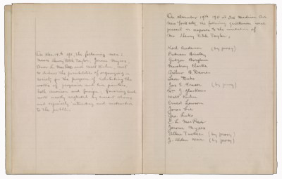 Minutes of the Association of American Painters and Sculptors meeting, 1911 Dec. 19-1912 Jan. 2