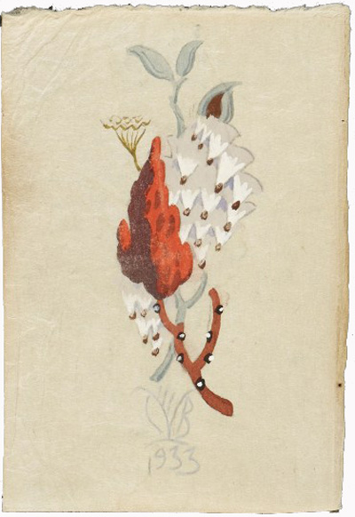 Illustrated letter from Charles Burchfield to Louise Burchfield