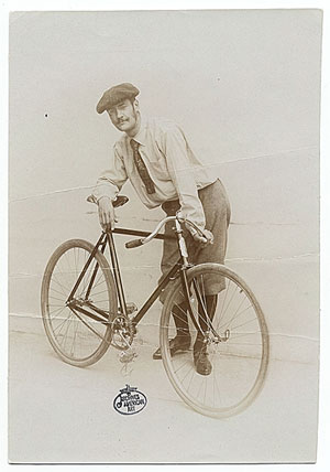 Feininger with bicycle