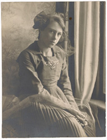 Photograph of Esther McCoy around age twelve