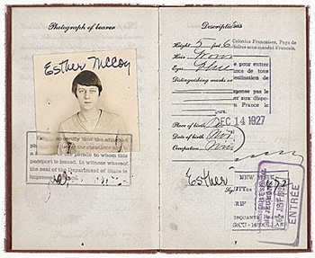 Passport of Esther McCoy